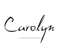 tattoo-design-name-carolyn-01