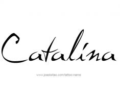 tattoo-design-name-catalina-01