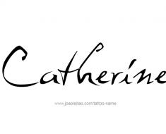 tattoo-design-name-catherine-01
