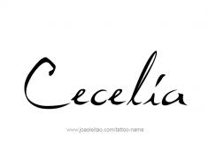 tattoo-design-name-cecelia-01