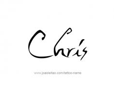 tattoo-design-name-chris-01