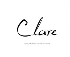 tattoo-design-name-clare-01