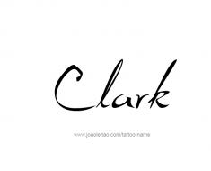 tattoo-design-name-clark-01