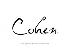 tattoo-design-name-cohen-01