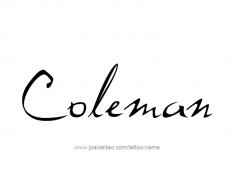 tattoo-design-name-coleman-01