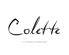 tattoo-design-name-colette-01