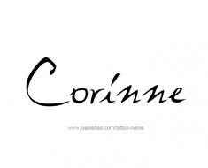 tattoo-design-name-corinne-01