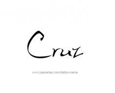 tattoo-design-name-cruz-01