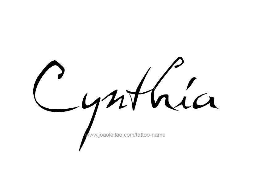Cynthia Name Tattoo Designs