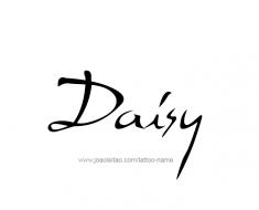 tattoo-design-name-daisy-01
