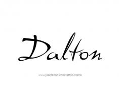 tattoo-design-name-dalton-01