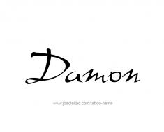 tattoo-design-name-damon-01