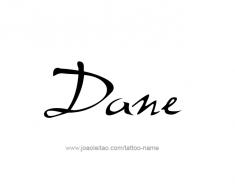 tattoo-design-name-dane-01