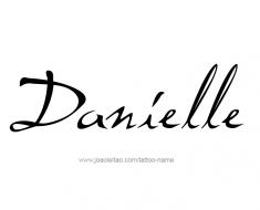 tattoo-design-name-danielle-01