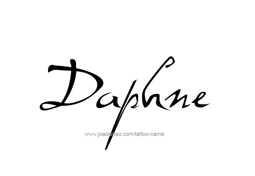 Daphne Name Tattoo Designs