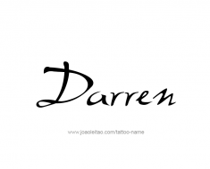 tattoo-design-name-darren-01
