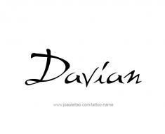 tattoo-design-name-davian-01