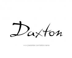 tattoo-design-name-daxton-01