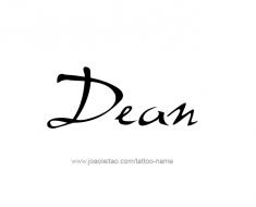 tattoo-design-name-dean-01