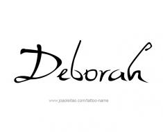 tattoo-design-name-deborah-01