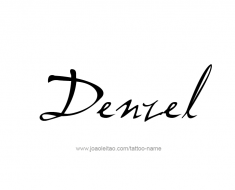tattoo-design-name-denzel-01