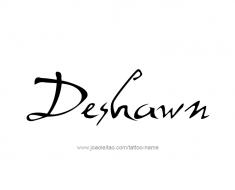 tattoo-design-name-deshawn-01