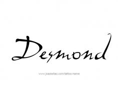 tattoo-design-name-desmond-01