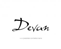 tattoo-design-name-devan-01