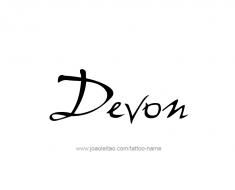tattoo-design-name-devon-01