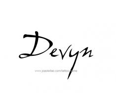 tattoo-design-name-devyn-01
