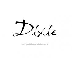 tattoo-design-name-dixie-01