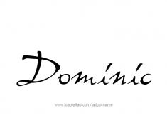 tattoo-design-name-dominic-01