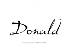 tattoo-design-name-donald-01