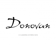 tattoo-design-name-donovan-01