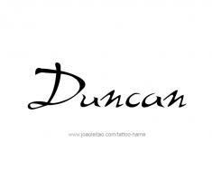 tattoo-design-name-duncan-01