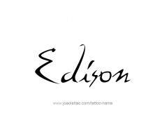 tattoo-design-name-edison-01