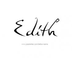 tattoo-design-name-edith-01
