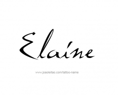 tattoo-design-name-elaine-01