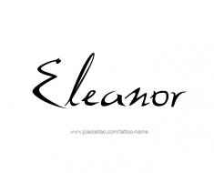 tattoo-design-name-eleanor-01