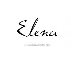 tattoo-design-name-elena-01