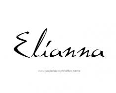 tattoo-design-name-elianna-01