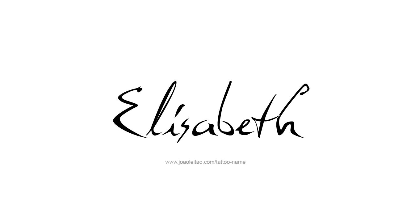 elisabeth name tattoo designs