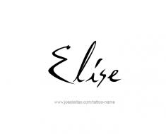 tattoo-design-name-elise-01