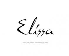 tattoo-design-name-elissa-01