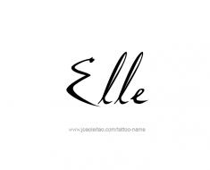 tattoo-design-name-elle-01