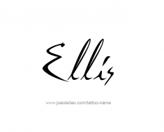tattoo-design-name-ellis-01