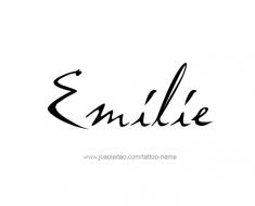 tattoo-design-name-emilie-01
