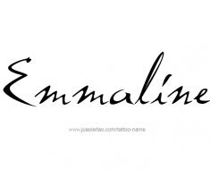 tattoo-design-name-emmaline-01