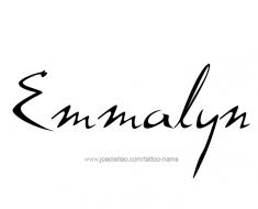 tattoo-design-name-emmalyn-01