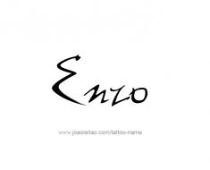 tattoo-design-name-enzo-01